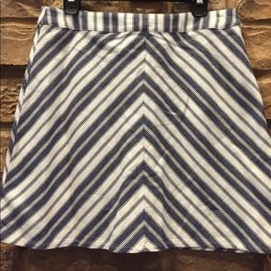 H&M Striped Mini Skirt Exposed Zipper Size 12 NWT